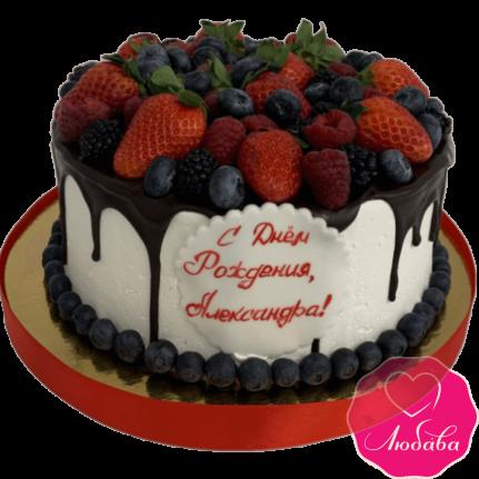 Торт на день рождения ягодный №2119