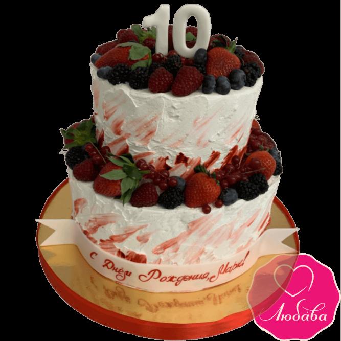 Торт детский ягодный №2125