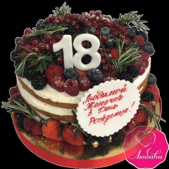 Торт без мастики ягодный №2126