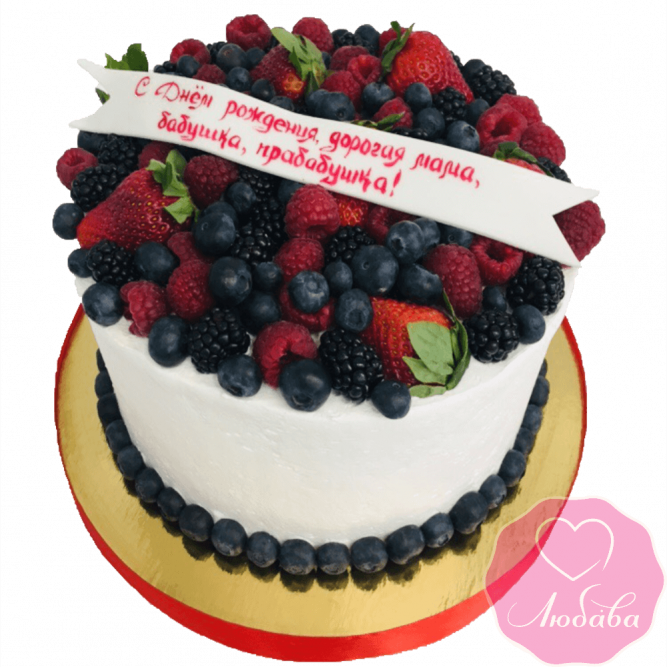Торт на день рождения для бабушки №2127