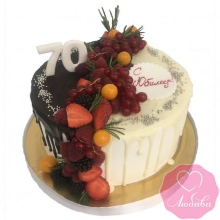 Торт на юбилей два шоколада №2551