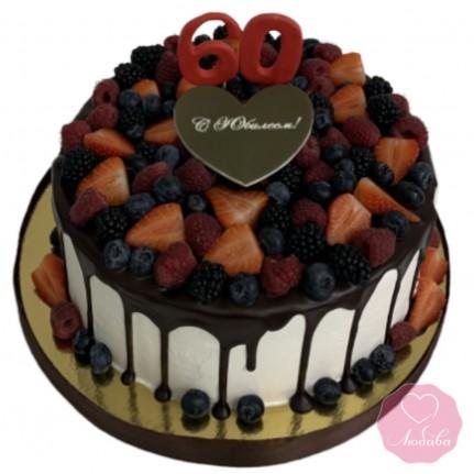 Торт на юбилей 60 №2861
