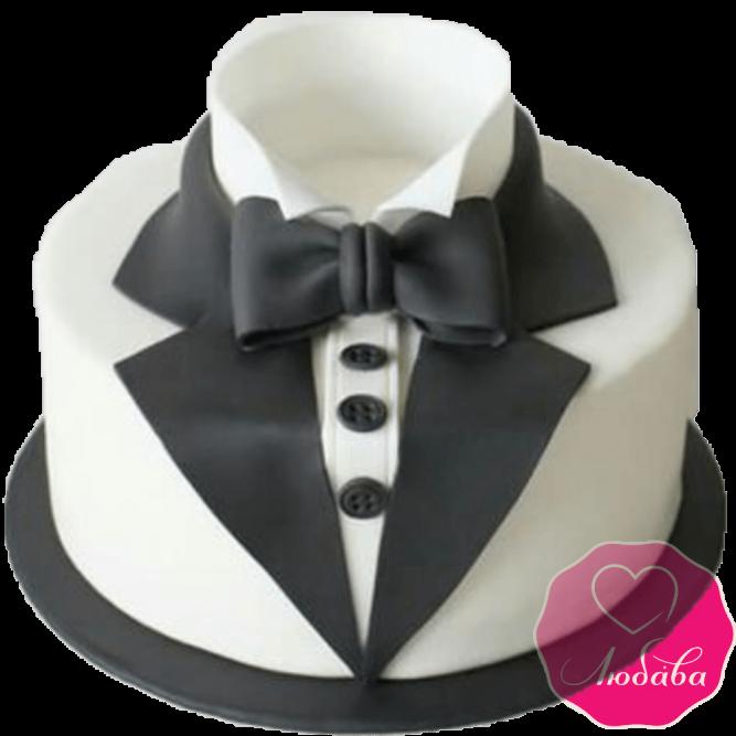 Торт на день рождения фрак №2159