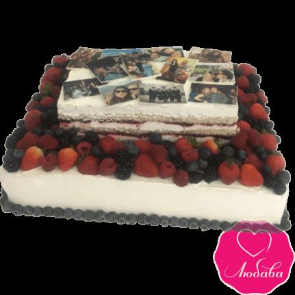 Торт на день рождения ягодный с фото №2163
