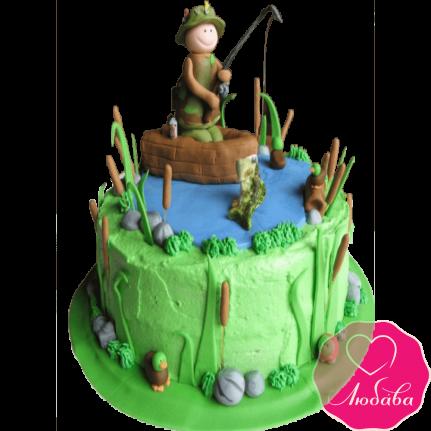 Торт на день рождения рыбак №2167