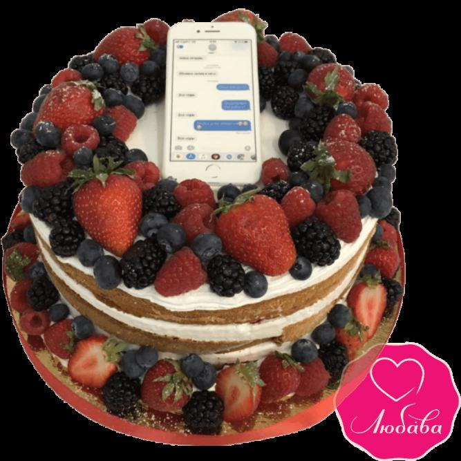 Торт на день рождения ягодный iphone №2269