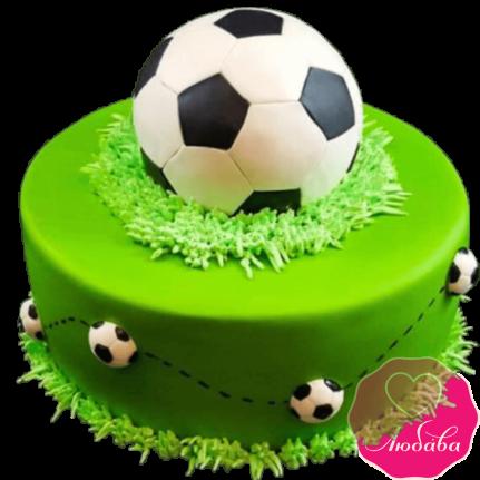 Торт на день рождения с футбольным мячом №2282
