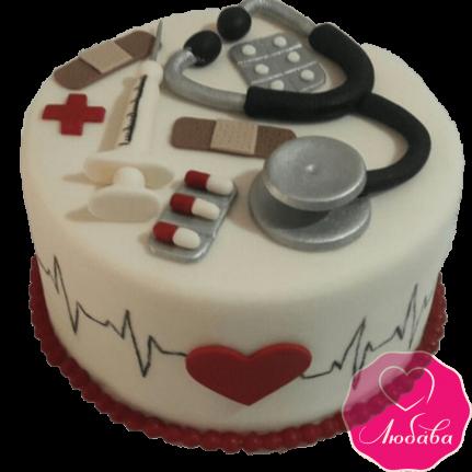 Торт на день рождения врачу №2302