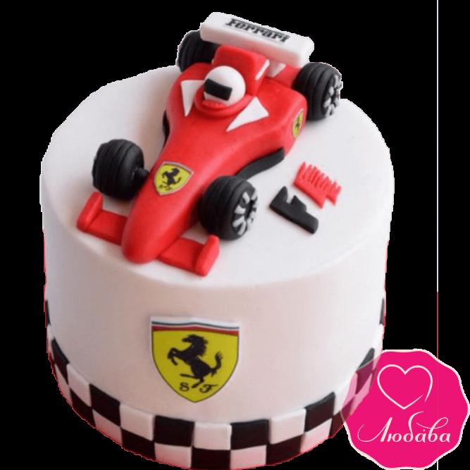 Торт на день рождения формула 1 феррари №2320