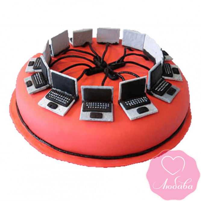 Торт на день рождения компьютеры №2328