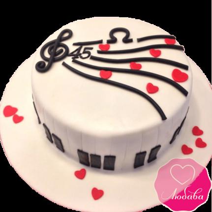 Торт на день рождения музыканту №2329