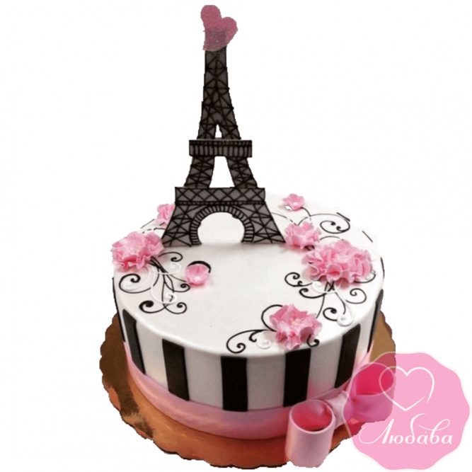 Торт на день рождения Париж №2330