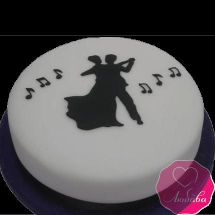 Торт на день рождения танцорам №2336