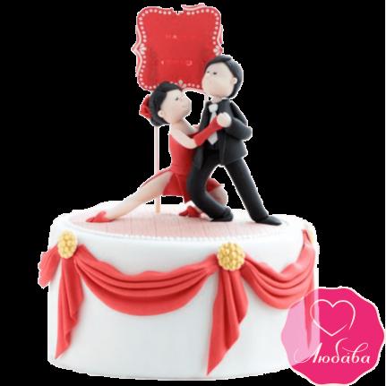Торт на день рождения танцевальная пара №2337