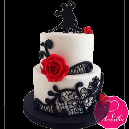 Торт на день рождения для танцоров №2338