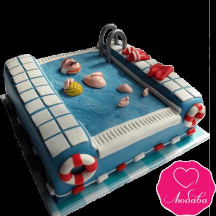Торт на день рождения вотерполисту №2340