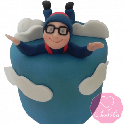 Торт на день рождения парашютисту №2341