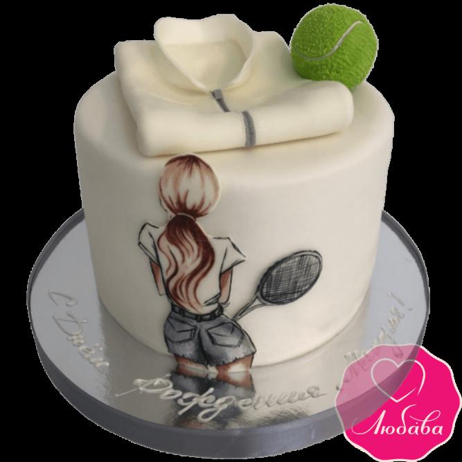 Торт на день рождения большой теннис №2342