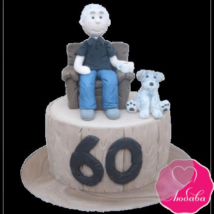 Торт на день рождения для дедушки №2344