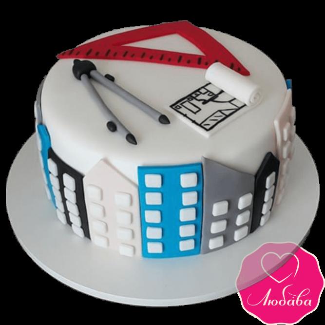 Торт на день рождения архитектору №2351