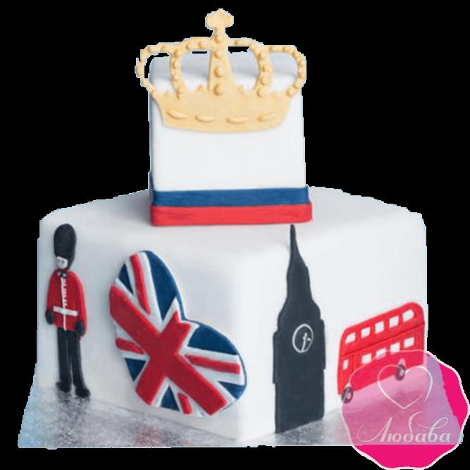 Торт на день рождения Лондон №2355