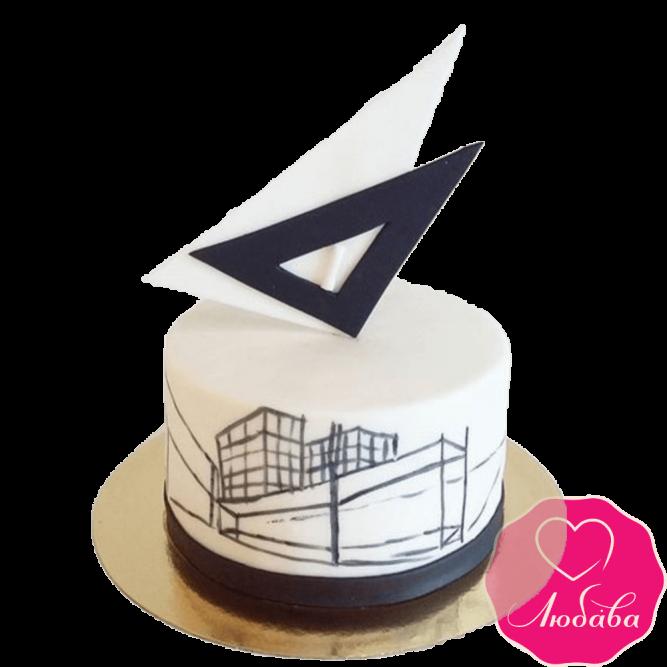 Торт на день рождения для архитектора №2359