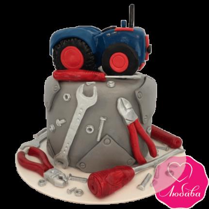Торт на день рождения для автослесаря №2361