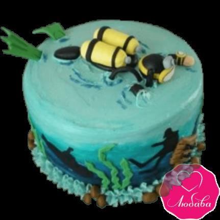 Торт на день рождения водолазу №2362