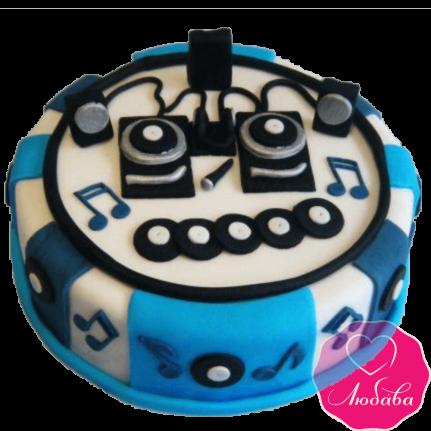 Торт на день рождения диджею №2364