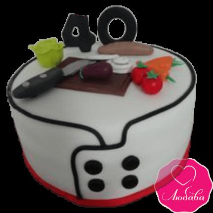 Торт на день рождения для повара №2365