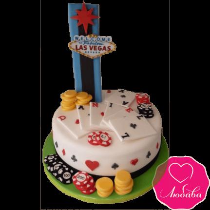 Торт на день рождения Лас Вегас №2366