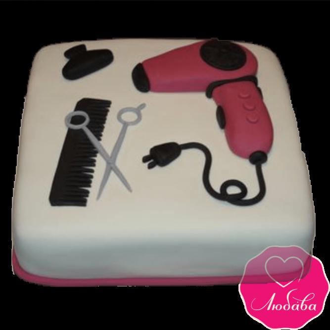 Торт на день рождения парикмахеру №2370