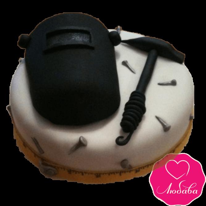 Торт на день рождения для сварщика №2371