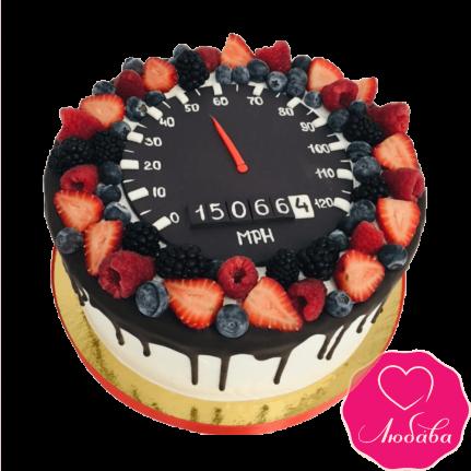 Торт на день рождения ягодный со спидометром №2388