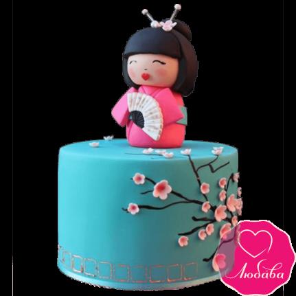 Торт на день рождения японские мотивы №2393