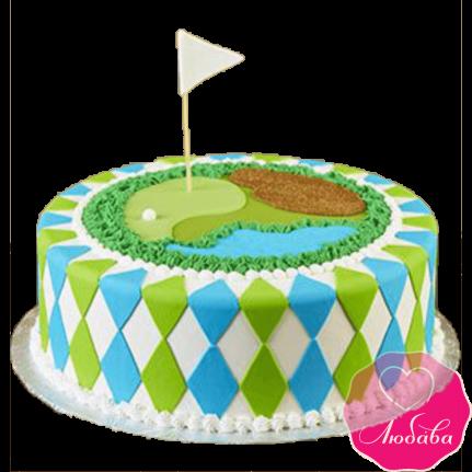 Торт на день рождения гольф №2397