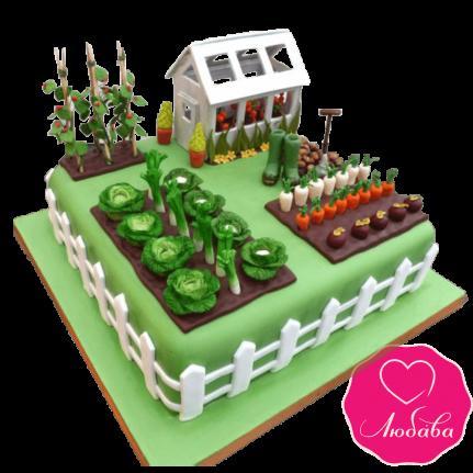 Торт на день рождения огород №2398