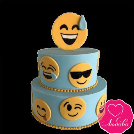 Торт на день рождения смайлики №2402