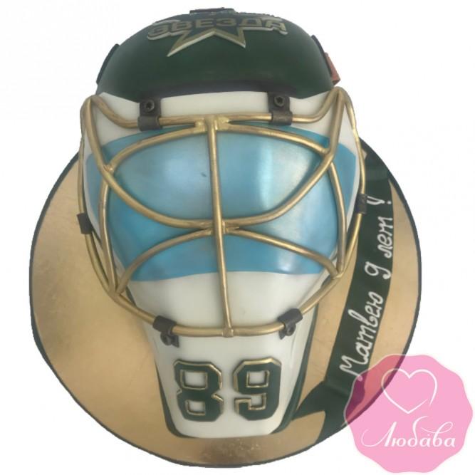 Торт на день рождения хоккейному вратарю №2417