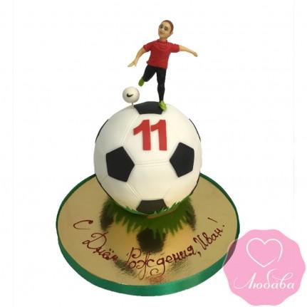 Торт на день рождения футболисту №2420