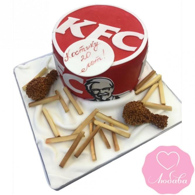 Торт на день рождения KFC №2421