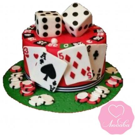 Торт на день рождения казино №2454