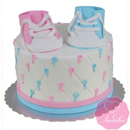 Торт на день рождения будущей маме №2467