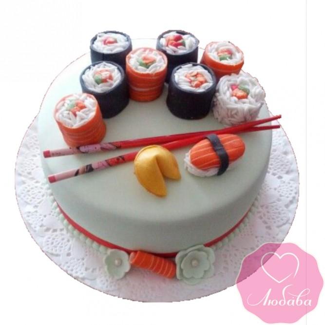 Торт на день рождения суши №2468