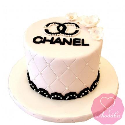 Торт на день рождения шанель №2474