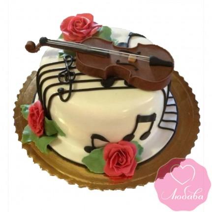 Торт на день рождения скрипачу №2483