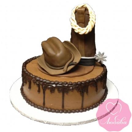 Торт на день рождения ковбою №2485