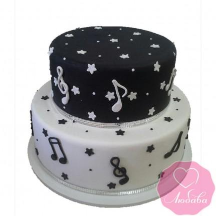 Торт на день рождения для музыканта №2501