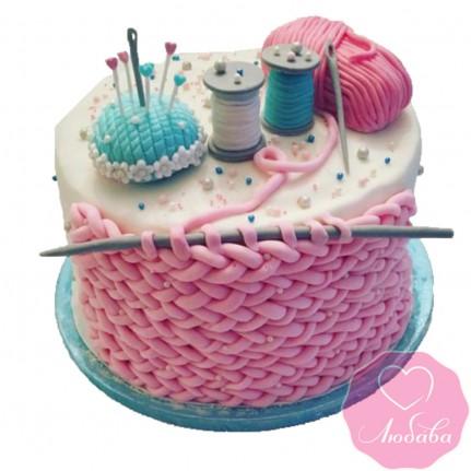 Торт на день рождения вязание №2518