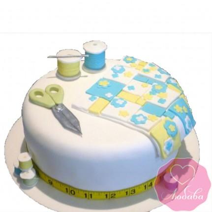 Торт на день рождения для швеи №2520